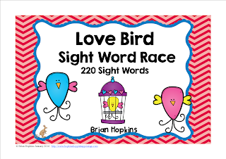 https://www.teacherspayteachers.com/Product/Valentines-Day-Love-Bird-Sight-Word-Race-2319757