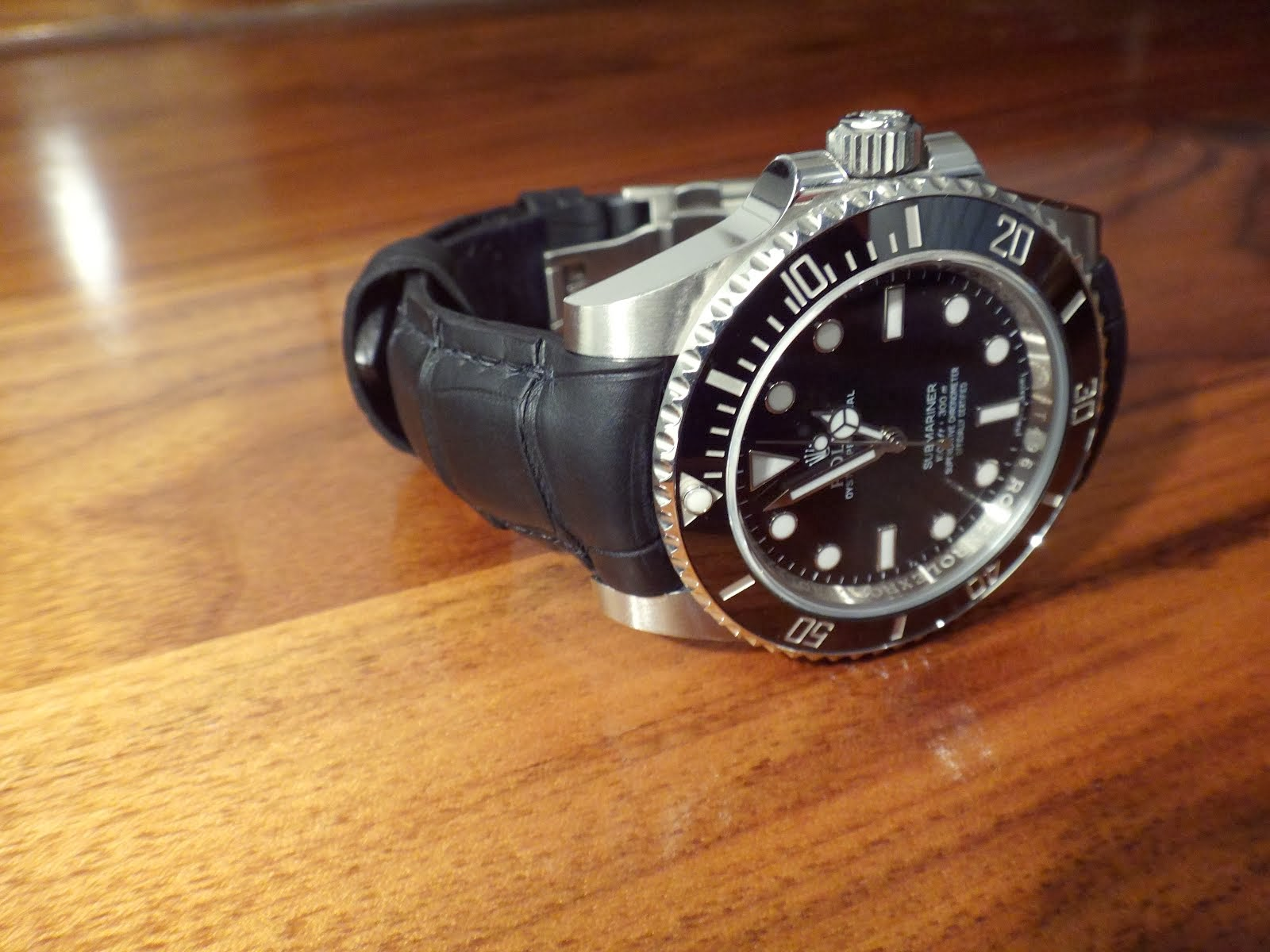Richard's Rolex Sub on SuperMatte Alligator strap