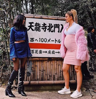Pregnant Khloe Kardashian spotted in Japan with sisters, Kim and Kourtney (photo)