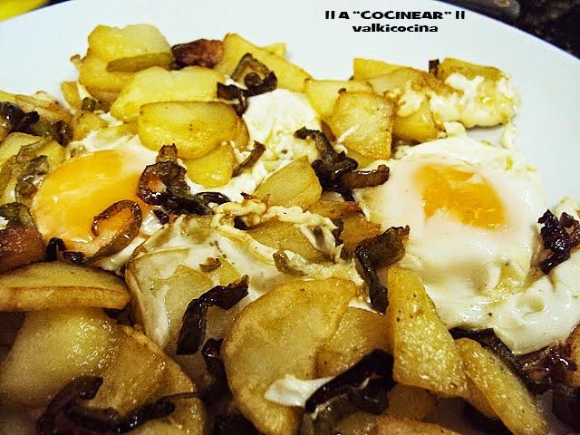 Fritada de patatas y huevo