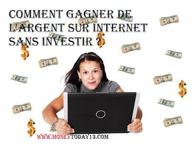 gagner de l'argent sur internet sans investir :top des moyens