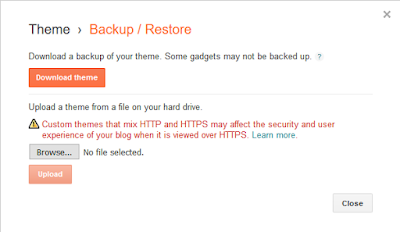 Cara Backup / Restore Template di Blogspot