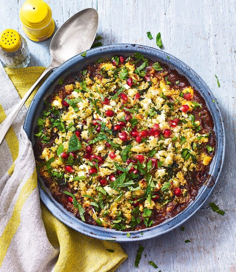 Spiced Lamb And Herby Quinoa Crumble Recipe