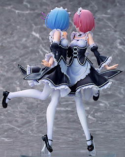 "Figuras: Preciosa figura de las gemelas Ram y Rem de "" ""Re: ZERO -Starting Life in Another World-"""