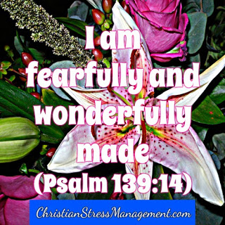 I am fearfully and wonderfully made. (Adapted Psalm 139:14)