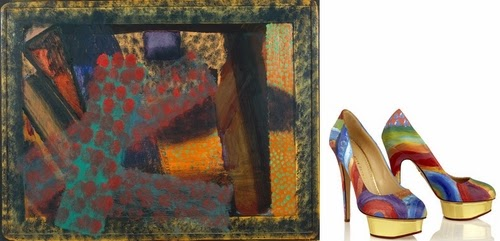 06-Howard-Hodgkin-Dinner-At-Smith-Square-Boyarde-Messenger-Charlotte-Olympia-Dolly-Pumps-High-Heels-www-designstack-co
