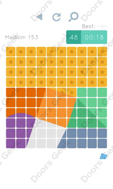 Cheats, Walkthrough for Blocks and Shapes Medium Level 153