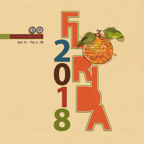 Scrapbook Cover Page for Florida Travel Album