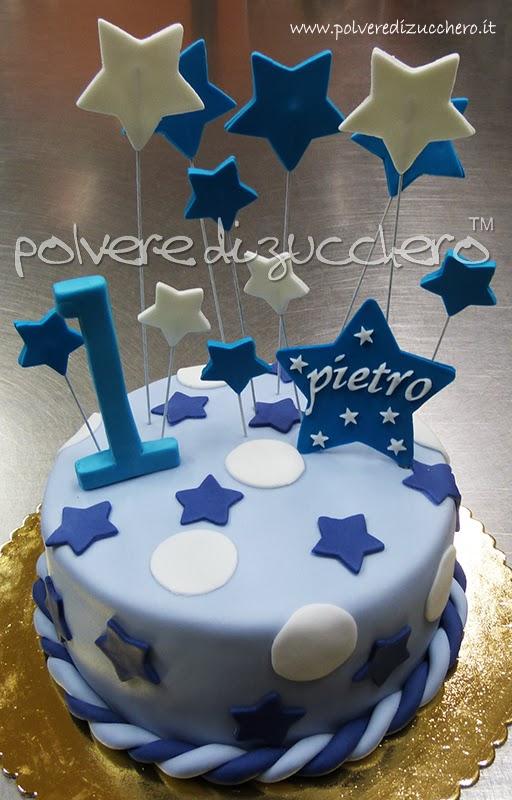 Amato Torta primo compleanno per un maschietto | Polvere di Zucchero  MT85