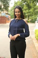 Poojita Super Cute Smile in Blue Top black Trousers at Darsakudu press meet ~ Celebrities Galleries 026.JPG
