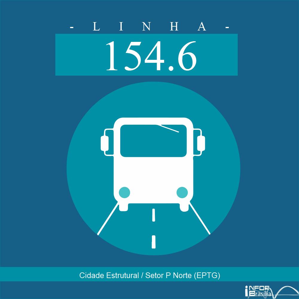 Horário de ônibus e itinerário 154.6 - Cidade Estrutural / Setor P Norte (EPTG)