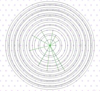 Un problema en la trama de puntos isométrica. ¿Regularidad o indeterminación?