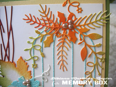 Fall bird cage card detail cage