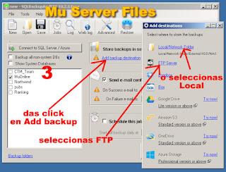 SQL Server backups