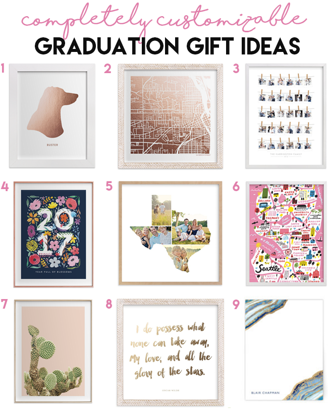 9 Customizable Graduation Gift Ideas from Minted