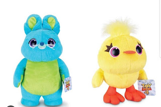 Toy Story 4 Thinkway Plush Duck and Bunny
