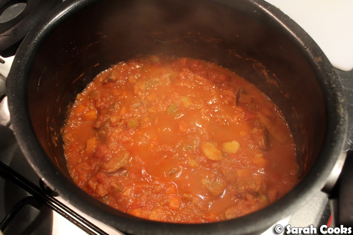Beef Stew, end of cooking time