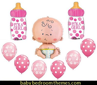 IT'S A GIRL BABY BOTTLE SHOWER Balloons Decorations Supplies