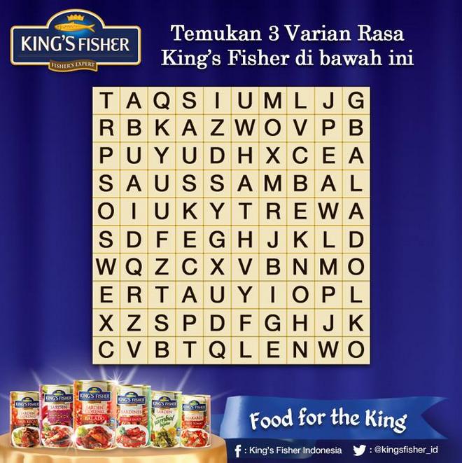 Kuis Crossword Berhadiah Paket Produk dari King's Fisher