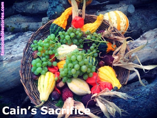Cain's sacrifice offering rejected by God,