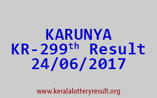KARUNYA Lottery KR 299 Results 24-6-2017