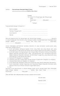 Contoh Surat Permohonan melamar Perangkat Desa