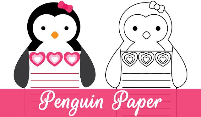 Free Penguin Writing Sheet