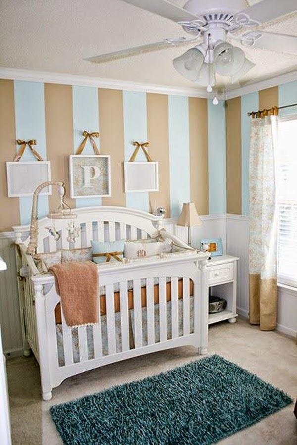 cuarto bebé gris y celeste