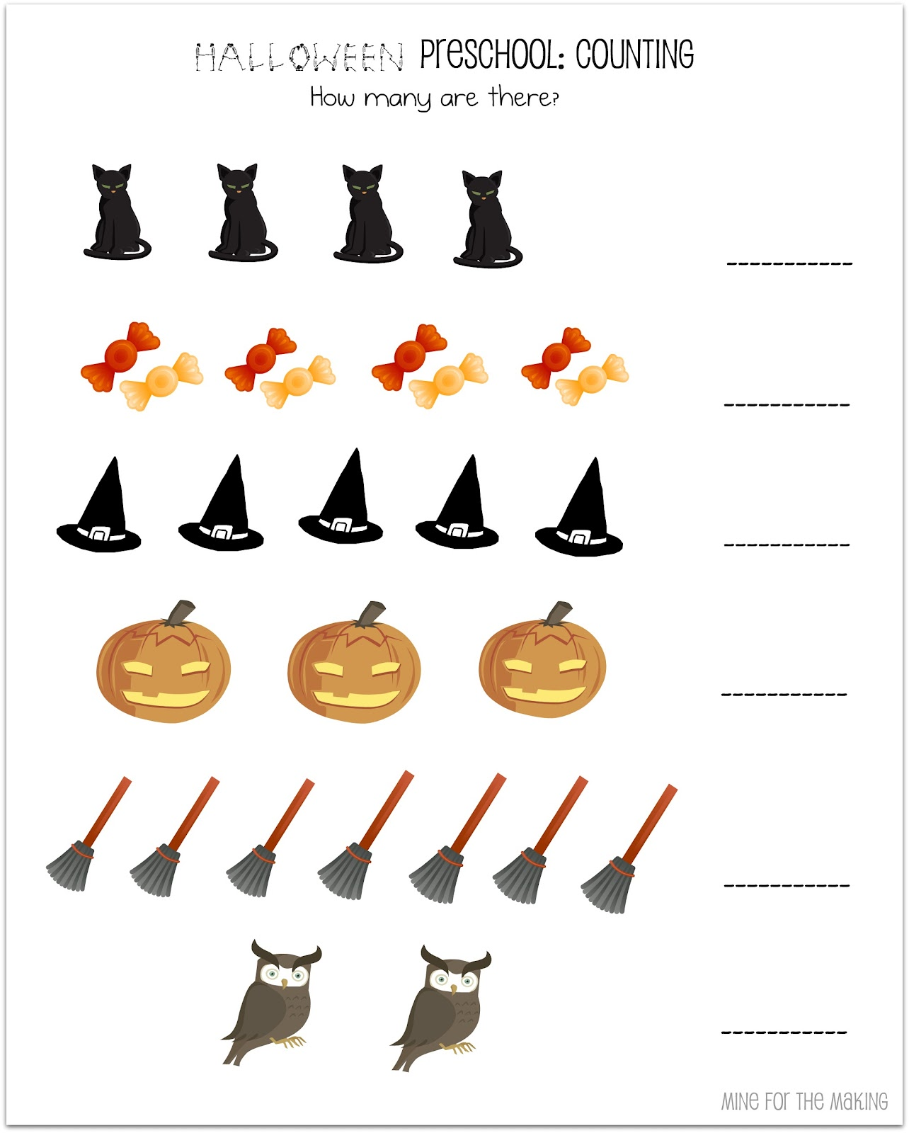 Halloween Worksheet Preschool Science