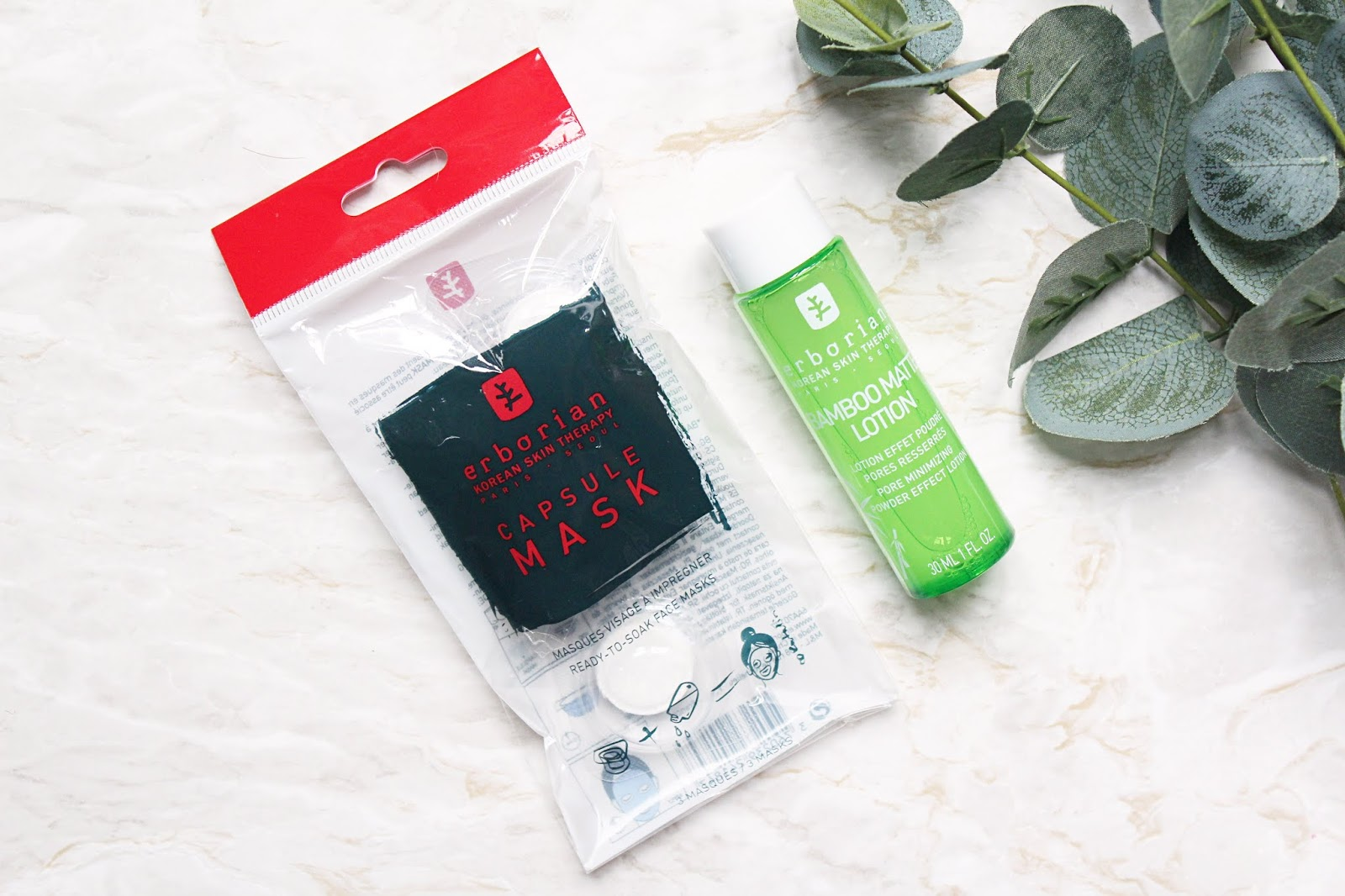 Erborian Capsule Mask & Bamboo Matte Lotion Review