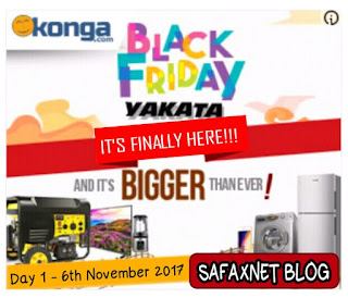 Konga Black Friday Day 1 Yakata Deals November 6th 2017