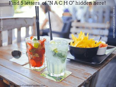 Hidden Letters NACHO Picture Puzzle