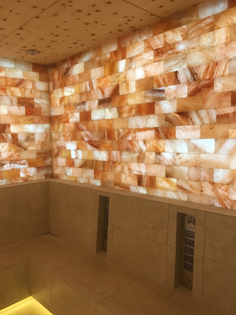 Himalayan Salt Room - Girls Getaway at Garden of the Gods Club by Colorado lifestyle blogger Eat Pray Wear Love