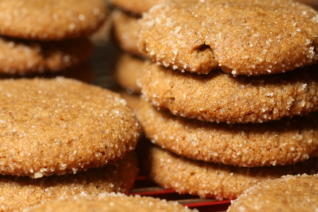 Galletitas de jengibre y canela / Ginger snap cookies