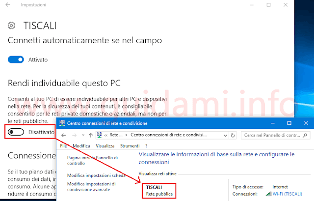 Windows 10 Anniversary Update passare a Rete pubblica