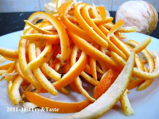 Resep Manisan Kulit Jeruk  - Candied Orange Peel