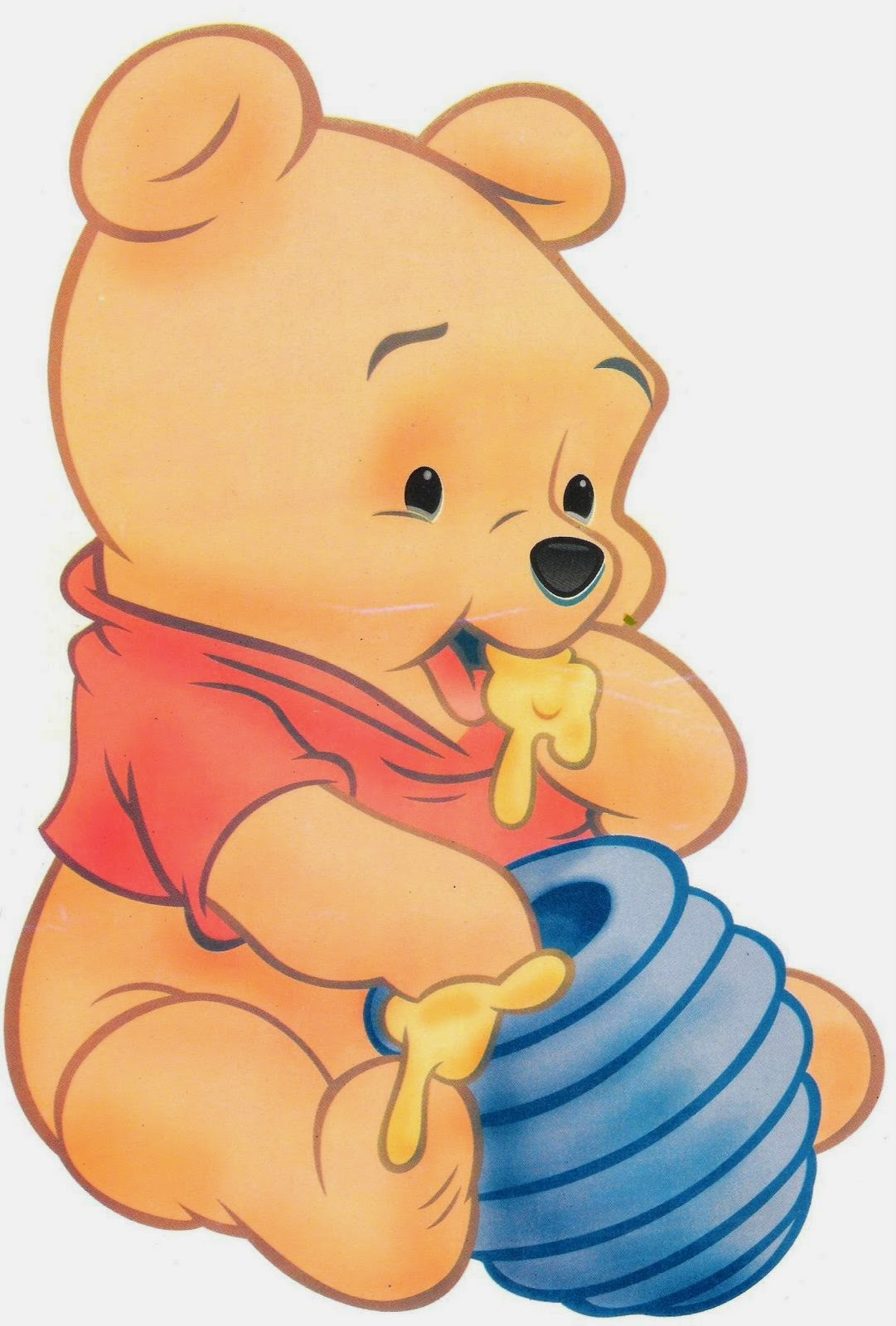 Winnie Pooh Baby Bettwäsche Baby Winnie The Pooh: Free Printable Clipart. - Oh My Baby!