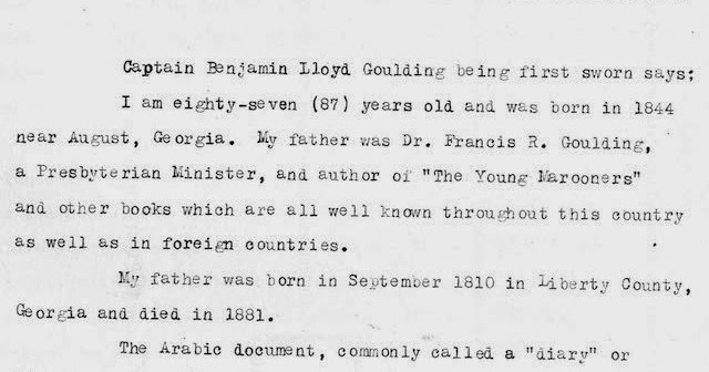 The Progler Papers: Ben Ali and the Arabic Diary (Part Two)