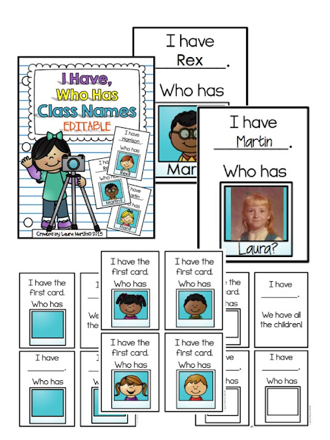 Back to School I Have, Who Has-Class Names! OMG! It's editable!