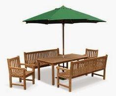 set maja makan payung