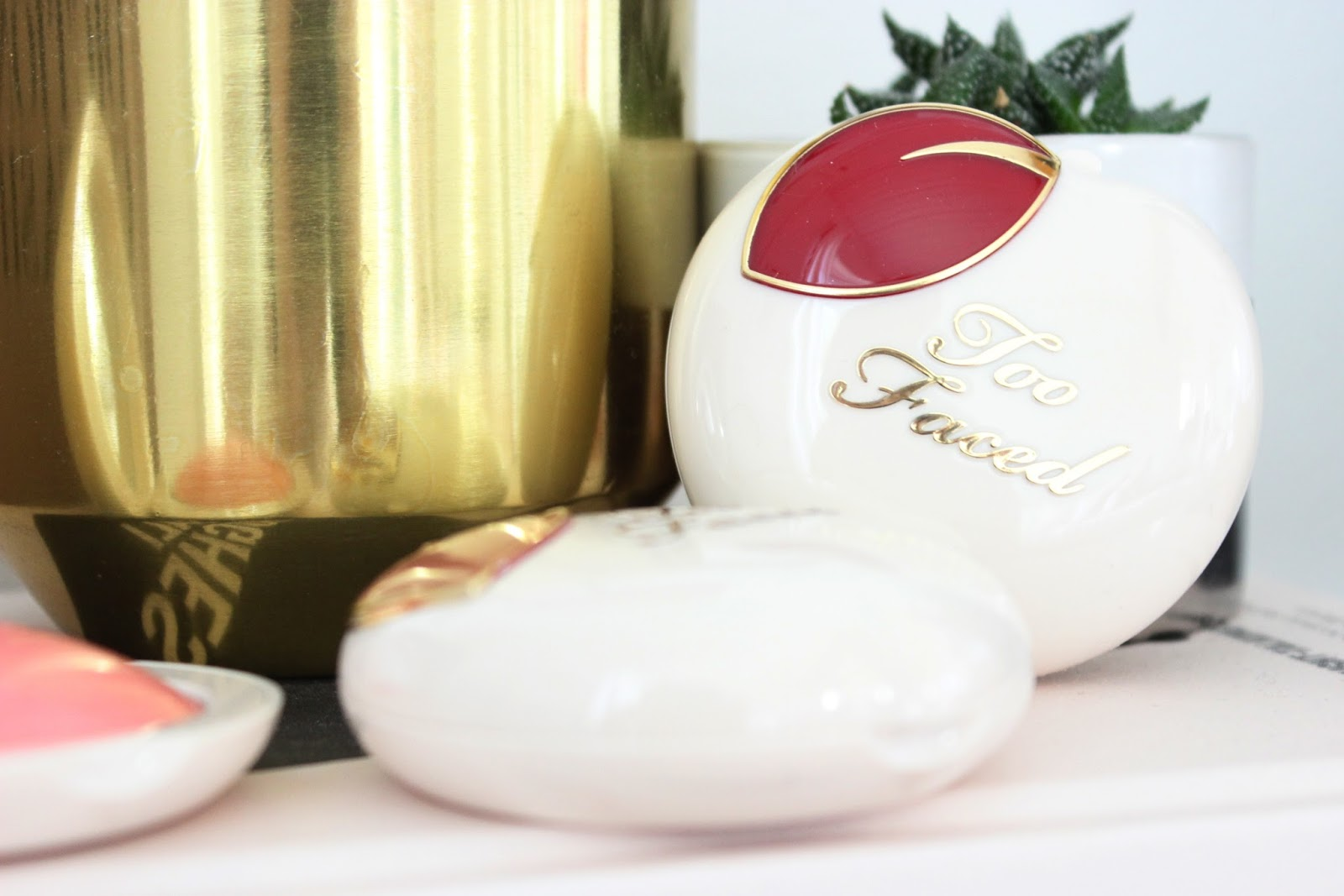 peaches and cream, too faced, peach my cheeks, cream blush, makeup review, makeup, makeup swatches, blush, toronto blogger