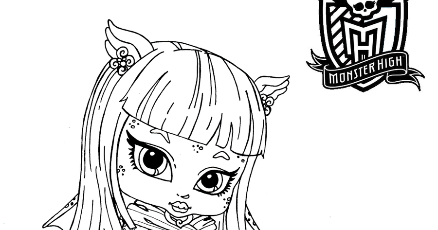 Dibujos Para Colorear De Las Monster High Bebes: Dibujos Para Imprimir Y Pintar De Monster High