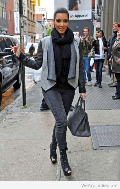 Celebrity Street Style Kim Kardashian West The Kara Edit