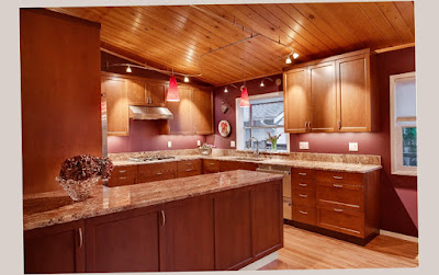 Elegant Color for Gourmet Home Kitchen Designs With Soft Lighting to Apply for Your Home Picture Preview
