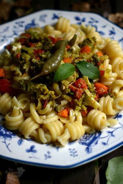 Espirales de pasta con vegetales 02
