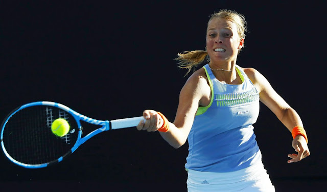 HD Photos of Anett Kontaveit At Australian Open Tennis Tournament 2018 In Melbourne