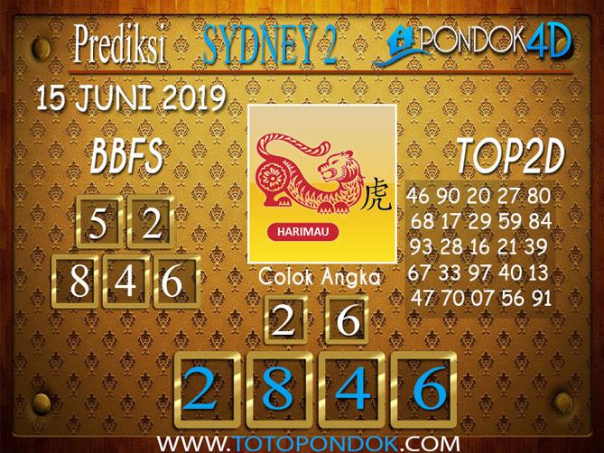 Prediksi Togel SYDNEY 2 PONDOK4D 15 JUNI 2019