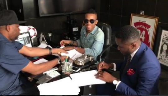 Image result for Tekno signs Sony Music Global Deal