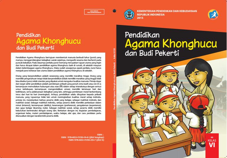 Download Gratis Buku Siswa Pendidikan Agama Khonghucu dan Budi Pekerti Kelas 6 SD Kurikulum 2013 Format PDF