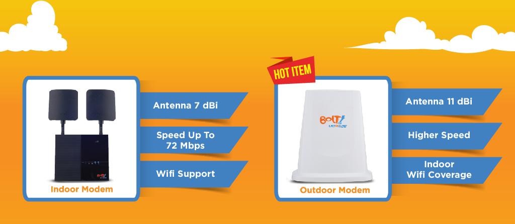 BOLT HOME Adalah Layanan Internet UNLIMITED Tanpa Batas Untuk Internetan Dirumah Yang Menawarkan 2 Perangkat Berbeda Dan Dapat Di Sesuaikan Dengan